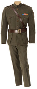 """Movie/TV Memorabilia, James Cagney """"Captain Flagg"""" green military jacket and pants from What Price Glory. ..."""