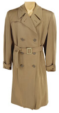 Movie/TV Memorabilia, Clark Gable taupe raincoat from an unidentified MGM production. ...