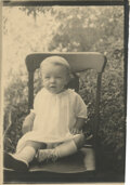 Movie/TV Memorabilia, Marilyn Monroe personal baby photograph - Norma Jeane at 15 months....