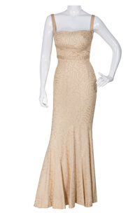 Marilyn Monroe crème evening gown by Travilla from How to Marry a Millionaire