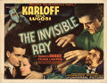 Movie Posters, Boris Karloff title-lobby card for The Invisible Ray. . ...