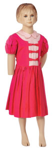 """Movie/TV Memorabilia, Patty McCormack """"Rhonda Penmark"""" pink dress designed by Moss Mabry from The Bad Seed. ..."""