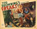 Movie Posters, Director Tod Browning lobby card for Freaks. . ...