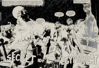 """Bernie Wrightson signed original art featuring """"Cain"""" in """"The Secret of the Egyptian Cat"""" from House..."""