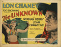 Movie Posters, Lon Chaney title-lobby card for The Unknown. . ...