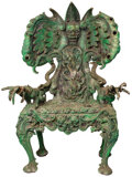"""Movie/TV Memorabilia, Tim Curry """"Lord of Darkness"""" animatronic throne from Legend...."""