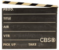 Movie/TV Memorabilia, CBS TV production clapperboard used on The Carol Burnett Show and All in the Family....