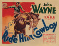 Movie Posters, John Wayne (3) lobby cards for Ride Him Cowboy, including title-lobby card . ...