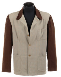 Howard Hughes signature two-tone wool jacket worn while piloting the H-4 Hercules (Spruce Goose), his XF-11 spy plane an...
