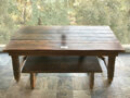 Movie/TV Memorabilia, Douglas Fairbanks period style table and bench from The Iron Mask....