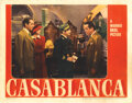 """Movie Posters, Humphrey Bogart """"Letters of transit"""" lobby card for Casablanca. . ..."""