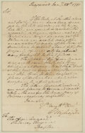 Movie/TV Memorabilia, Washington, George. Historic autograph letter signed as Commander of the Continental Army, 28 January 1781....
