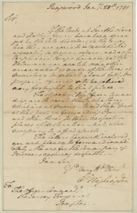 Washington, George. Historic autograph letter signed as Commander of the Continental Army, 28 January 1781