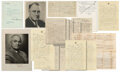 Movie/TV Memorabilia, [U.S. Presidents]. Letters, documents and signed photographs from FDR, Grant, Reagan, Carter, Truman, Polk & Tyler....