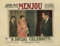 Louise Brooks (2) lobby cards for A Social Celebrity
