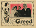 Movie Posters, Director Erich von Stroheim lobby card for Greed. . ...