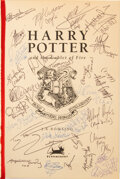 Movie/TV Memorabilia, Cast signed UK first edition Harry Potter and the Goblet of Fire....