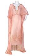 """Movie/TV Memorabilia, Elizabeth Taylor """"Cleopatra"""" pink nightgown by Irene Sharaff from Cleopatra...."""