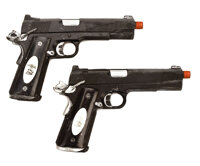 Barney Ross pair of signature stunt Kimber .45 semi-automatic pistols from The Expendables 3