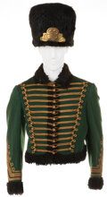 Movie/TV Memorabilia, Austro-Hungarian Hussar jacket and fur hat from unidentified MGM films....