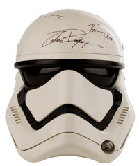 """""""Stormtrooper"""" screen used helmet signed by the cast from Star Wars: Episode VII - The Force Awakens with Luca..."""