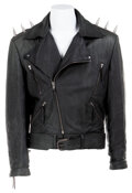 """Movie/TV Memorabilia, Nicolas Cage """"Ghost Rider"""" spiked leather stunt motorcycle jacket from Ghost Rider...."""