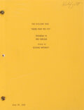 Movie/TV Memorabilia, Richard Matheson's The Twilight Zone original typed short story and script for Third From the Sun....