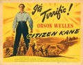 Movie Posters, Director Orson Welles title-lobby card for Citizen Kane. . ...