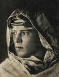 Movie/TV Memorabilia, Rudolph Valentino rare signed oversize photograph from Son of the Sheik by Carsey....
