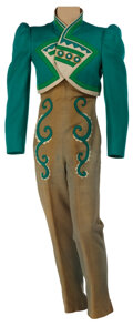 Movie/TV Memorabilia, The Wizard of Oz Emerald City musician jacket and pants designed by Adrian. ...