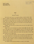 Movie/TV Memorabilia, Richard Matheson's The Twilight Zone original hand-annotated typed short story, script and materials archive for Steel....
