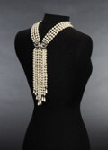 Movie/TV Memorabilia, Prince prop diamond and pearl necklace with paisley clasp from the Diamonds and Pearls music video....