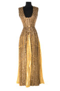 """Movie/TV Memorabilia, Elizabeth Taylor """"Cleopatra"""" """"Entrance Into Rome"""" and interment gown with elaborate replica headpiece from Cleopatra...."""
