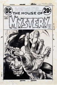 Bernie Wrightson signed original cover art for The House of Mystery #214