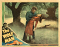 """Movie Posters, Lon Chaney, Jr. as the """"Wolf Man"""" and swooning Evelyn Ankers lobby card for The Wolf Man. . ..."""