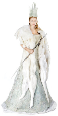 The White Witch dress, crown and wand