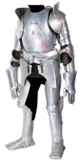 """Movie/TV Memorabilia, Nigel Terry """"King Arthur"""" armor from Excalibur with call sheets and production schedules...."""