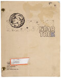 """Movie/TV Memorabilia, Star Trek: The Original Series first pilot script of """"The Cage"""" signed by Leonard Nimoy and director Robert Butler. ..."""