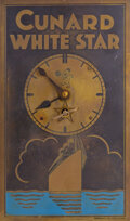 Movie/TV Memorabilia, Cunard White Star vintage brass clock attributed to the RMS Olympic sister ship to the Titanic! ...