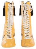 """Movie/TV Memorabilia, Sylvester Stallone """"Rocky"""" signature boxing boots from first fight with Mr. T in Rocky III...."""
