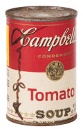 Movie/TV Memorabilia, Andy Warhol signed iconic Campbell's Soup label....