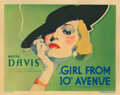 Movie Posters, Bette Davis (3) lobby cards for Girl from 10th Avenue, including title-lobby card. . ...