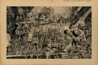 Bernie Wrightson original wrap-around cover artwork for Frankenstein by Mary Wollstonecraft Shelley