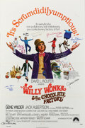 Movie/TV Memorabilia, Willy Wonka & the Chocolate Factory cast signed 1-sheet poster....