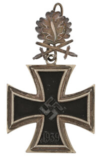 Knight's Cross with Oak Leaves and Swords decoration from Field Marshal Robert Ritter von Greim
