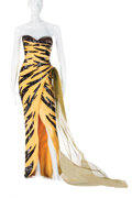 """Movie/TV Memorabilia, Marilyn Monroe """"The Girl"""" iconic Travilla-designed fantasy tiger gown from The Seven Year Itch...."""