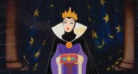 """""""Evil Queen"""" with """"Heart Box"""" production cel on a matching print background from Snow White and the..."""