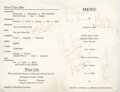 Movie/TV Memorabilia, The Beatles menu signed by all four members on flight to the Bahamas to shoot Help!...