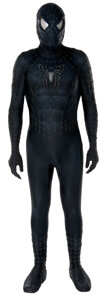 """Movie/TV Memorabilia, Tobey Maguire """"Black Spider-Man"""" costume and muscle undersuit from Spider-Man 3...."""