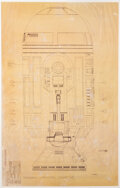Movie/TV Memorabilia, R2-D2 full-scale production blueprint from Star Wars: Episode IV - A New Hope....